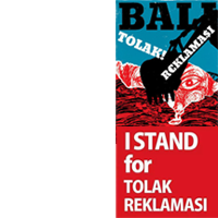I STAND for Tolak Reklamasi