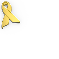 Childhood Cancer gold ribbon