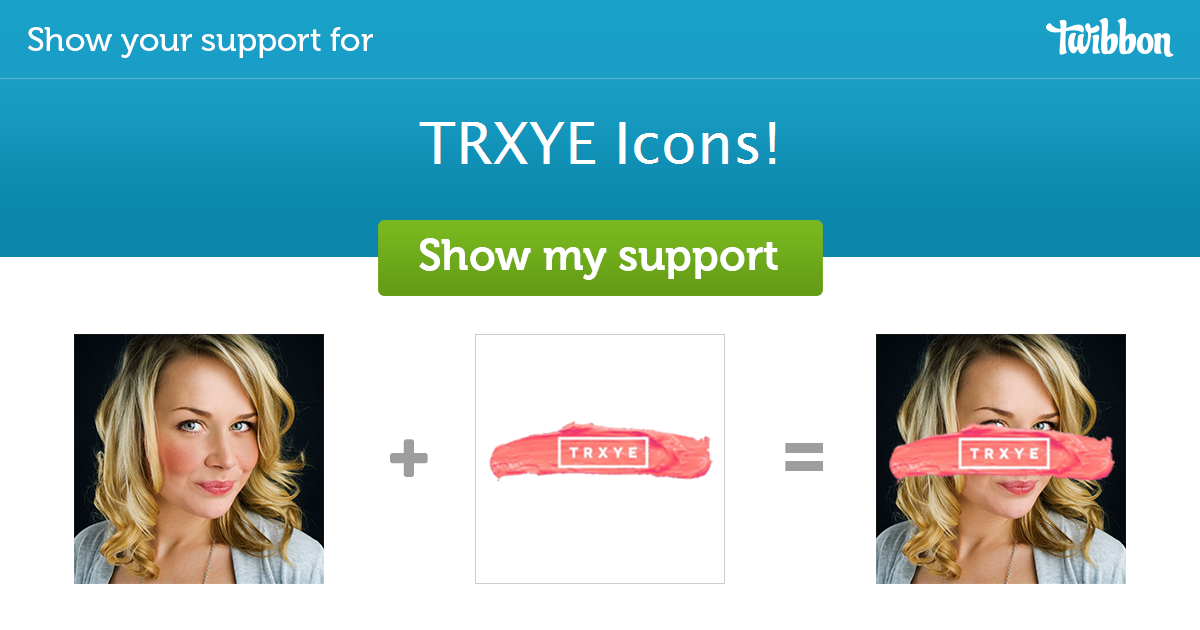 TRXYE Icons! - Support Campaign  Twibbon
