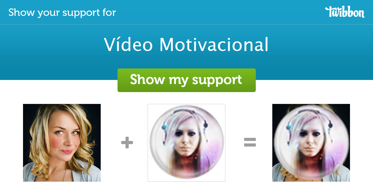 Vídeo Motivacional Support Campaign Twibbon