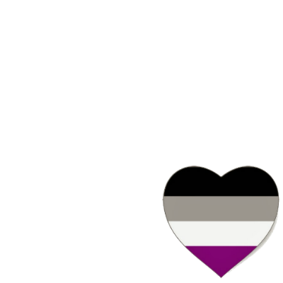 Asexual flag heart