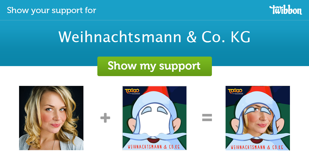 weihnachtsmann co kg support campaign twibbon. Black Bedroom Furniture Sets. Home Design Ideas