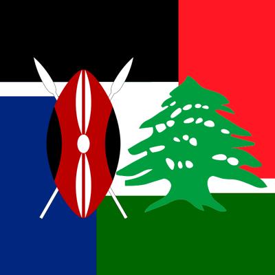 Beirut France and Kenya Flag