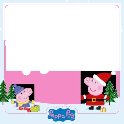 Convite Calendário 2014 Peppa Pig Natal