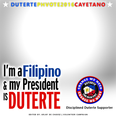 Duterte Cayetano Badge Maker