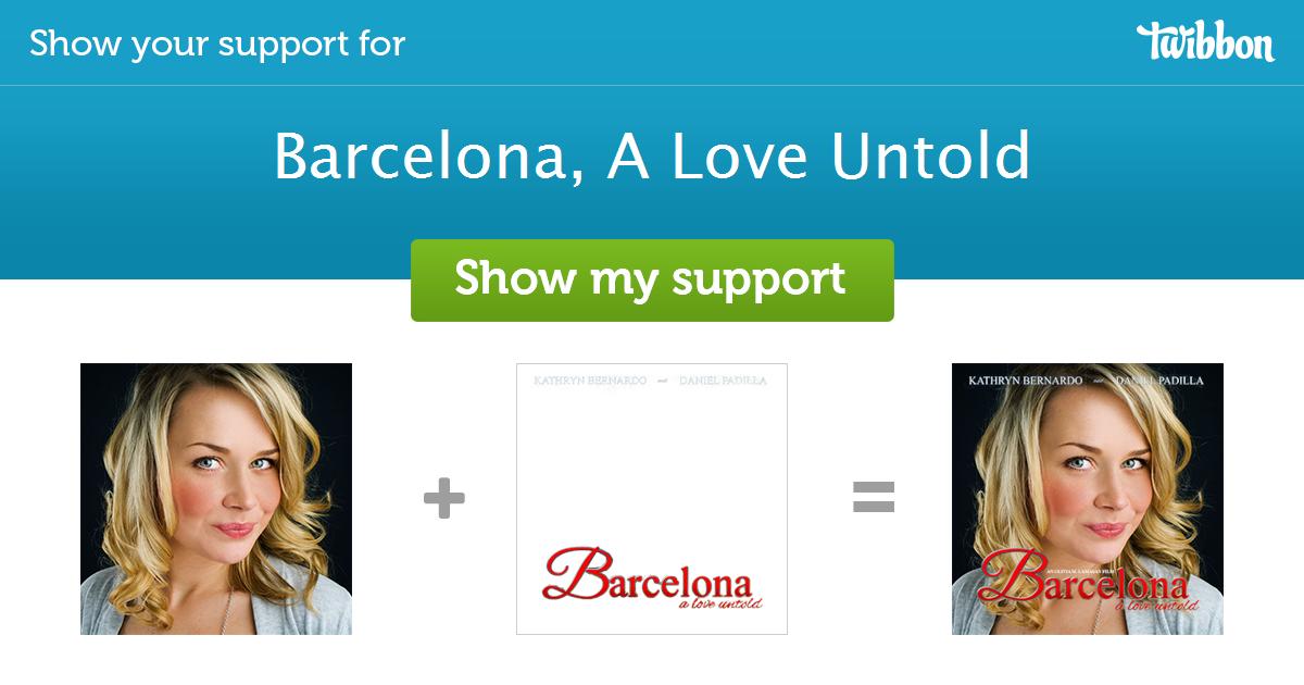 Barcelona A Love Untold Support Campaign Twibbon