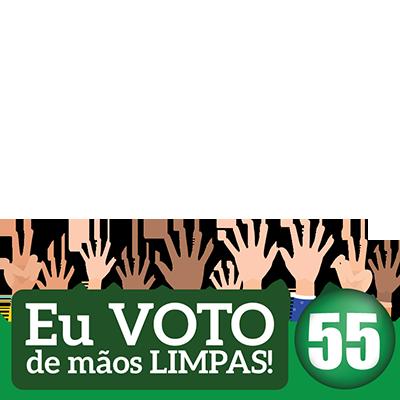 EU VOTO DE MÃOS LIMPAS 55
