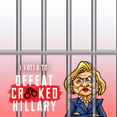 Defeat Crooked Hillary Support Campaign Twibbon