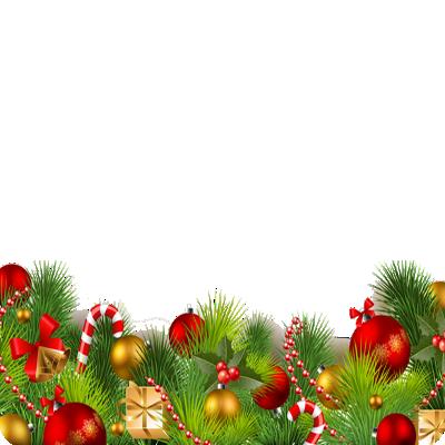 Christmas Wreath Banner