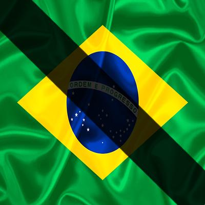 Bandeira do brasil Luto