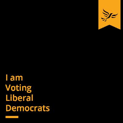 I'm voting Lib Dem