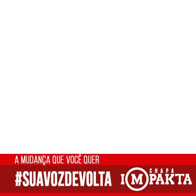 #SuaVozDeVolta