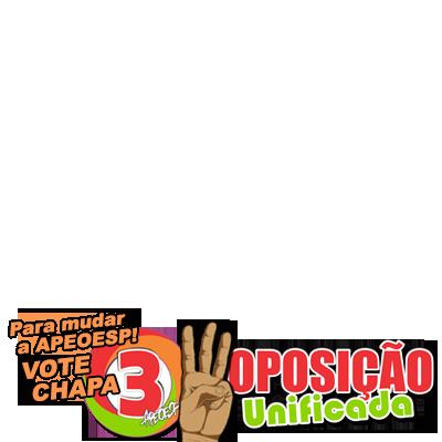 VOTE CHAPA 3 PARA MUDAR