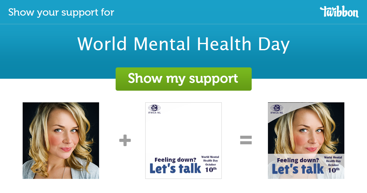 World Mental Health Day Support Campaign Twibbon