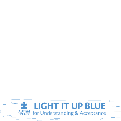 Autism Speaks Light It Up Blue Frame