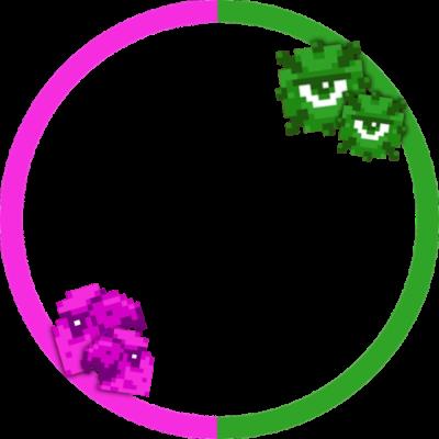 Pink Parrots+Green Guardians
