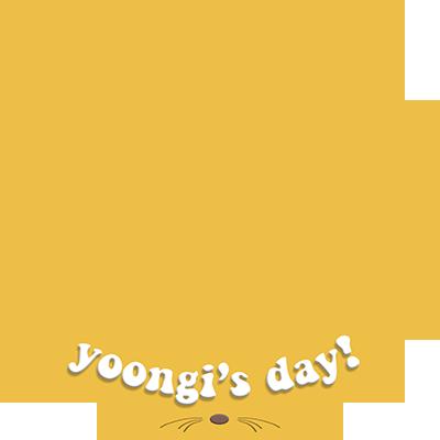 yoongi's day !