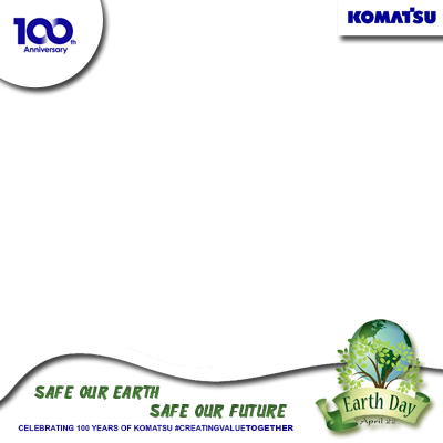 Earth Day #100thKomatsu