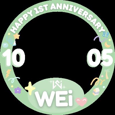 happy 1st anniversary WEi ⟡