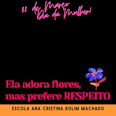 DIA DA MULHER -letras rosa
